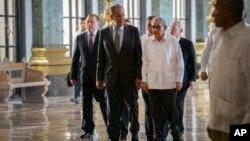 Сергей Лавров и Рауль Кастро. Гавана, Куба, 24 июля 2019