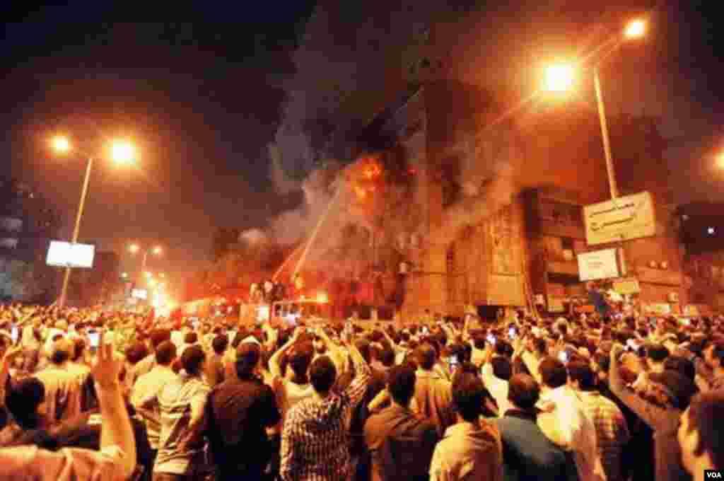 تظاهرات در شهر المنیای مصر