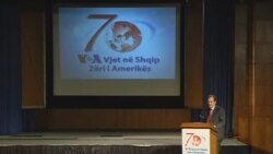 Congressman Eliot L. Engel speaks at VOA Albanian Service's 70th anniversary celebration.