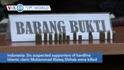 VOA60 World - Indonesia: Six suspected supporters of a hard line Islamic cleric killed in a clash with police