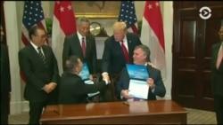 Президент Трамп благословил сделку корпорации Boeing с Сингапурскими авиалиниями