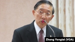 台湾外交部长林永乐9月25号于立法院 (美国之音张永泰拍摄)