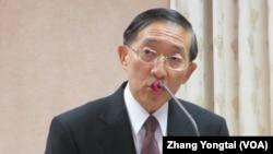 台灣外交部長林永樂9月25號於立法院 (美國之音張永泰拍攝)