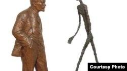 Леонид Соков. Встреча двух скульптур. Ленин и Джакометти