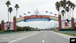 Taman hiburan Walt Disney World di Lake Buena Vista, Florida harus tutup akibat pandemi Covid-19.