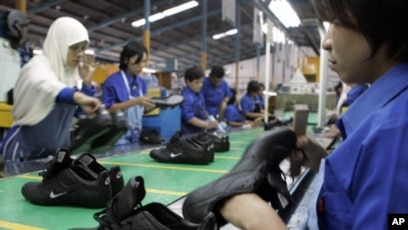 d332e0b6f Indonesian laborers work at a Nike shoes factory in Tangerang in West Java  province. (
