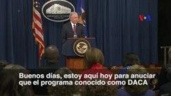 "Sessions: DACA ""está siendo rescindido"""