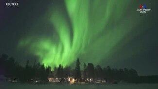 Հիասքանչ հյուսիսափայլի պարը՝ Ֆինլանդիայի երկնքում