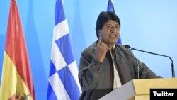 El presidente de Bolivia, Evo Morales, hizo declaraciones sobre la crisis en Venezuela en Atenas, Grecia, donde realiza una visita oficial.