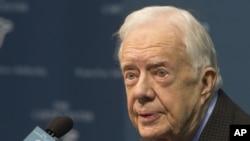 Jimmy Carter, ancien président des Etats-Unis (AP Photo/Phil Skinner)