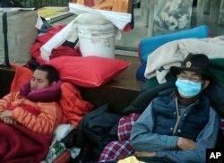 藏人在联合国总部外绝食,要求调查西藏人权(资料照片)