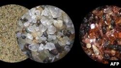 Cát dưới mắt một nhà địa chất học
