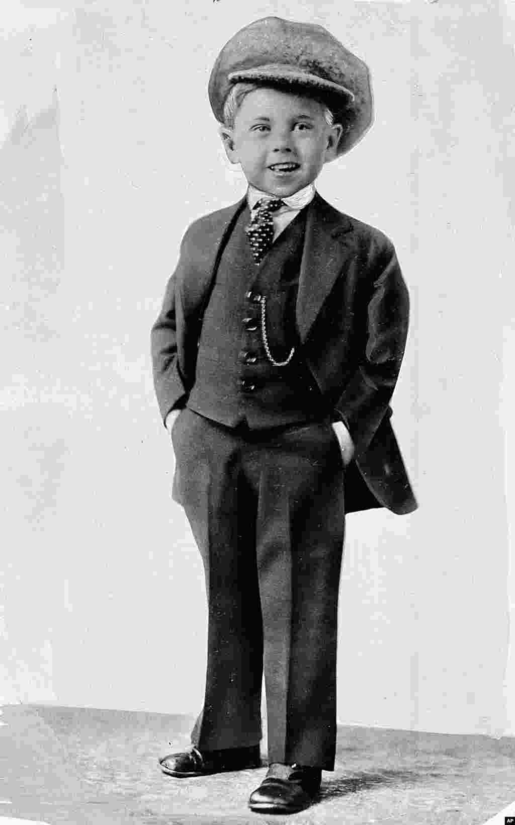 Child star Mickey Rooney poses for a promotional photo at age 5 in this photo dated about 1925. Rooney, a Hollywood legend whose career spanned more than 80 years.