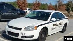 Une voiture de police en Georgie, Etats-Unis.