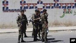 Yemeni soldiers in Sanaa, Yemen (file photo)