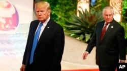 Дональд Трамп и Рекс Тиллерсон