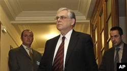 希臘總理帕帕季莫斯。