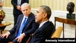 Le président Barack Obama reçoit le Premier ministre israélien Benjamin Netanyahu dans le bureau Oval de la Maison Blanche, 9 novembre 2015. (AP Photo/Andrew Harnik)