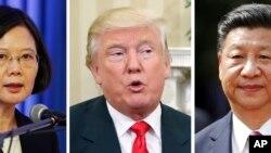 Tajvanska predsednica Cai Ing-ven, novoizabrani predsednik SAD Donald Tramp i kineski predsednik Ši Đinping