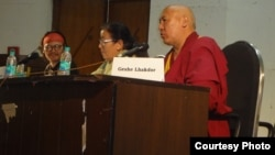 Speaker of Tibetan Parliament Gives Talk at JNU