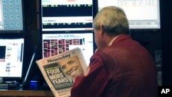 美國股市擔憂財政懸崖導致經濟衰退(資料圖片)