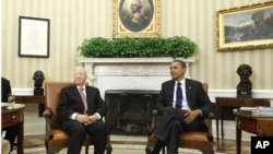 President Barack Obama meets with Prime Minister Beji Caid Essebsi of Tunisia in the Oval Office at the White House in Washington, Friday, Oct. 7, 2011. (file photo)