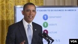 Pidato mingguan Presiden Obama memaparkan insentif baru bagi penciptaan lapangan kerjaan (foto: dok).