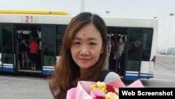 日本經濟新聞駐重慶新聞助理辛健(王海春微博圖片)