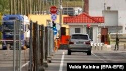 На КПП Каменный Лог на белорусско-литовской границе. 18 сентября 2020 г.