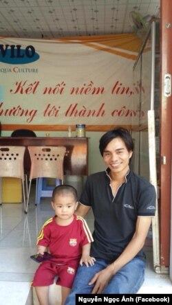Nông dân nuôi tôm Nguyễn Ngọc Ánh (Nguyễn Ngọc Ánh Facebook)