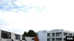 Kampus Universitas Warwick di Inggris tengah.