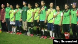 پاکستان وویمن فٹ بال ٹیم(فائل)