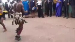 Traditional Dancers Welcome Rotary International President