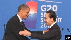 奧巴馬與李明博舉行聯合記者會