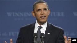 """اوباما: """"زمان سرمایه گذاری در امریکاست."""""""