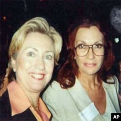 Hillary Clinton and Gail Johnson