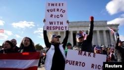 Masu zanga zanga akan Puerto Rico