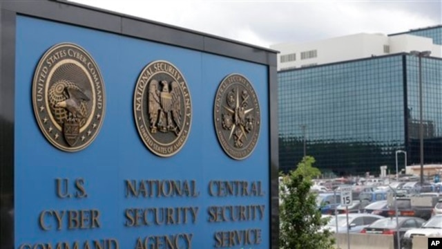 FILE - A sign outside the National Security Agency (NSA) campus in Fort Meade, Md., June 6, 2013.