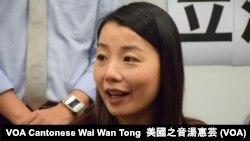 被法庭取消資格的香港前立法會議員劉小麗 (攝影:美國之音湯惠芸)
