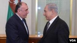 Xarici işlər naziri Elmar Məmmədyarov və İsrailin baş nazir Benyamin Netanyahu