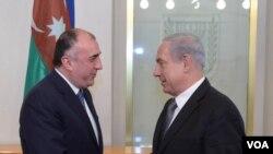 Xarici işlər naziri Elmar Məmmədyarov İsrail baş nazir Benyamin Netanyahu ilə görüşüb.