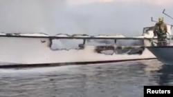 Tàu Conception bị cháy sáng ngày 2/9/2019.