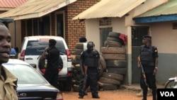 The Kasangati Police station where Robert Kyagulanyi (aka Bobi Wine) was said to have been held, in Kasangati, Uganda. (H. Athumani/VOA)