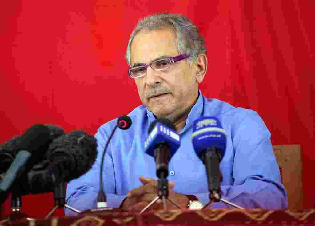 Presiden Timor Leste Jose Ramos Horta tampil dalam konferensi pers di Dili, 19 Maret 2012. Horta, salah satu pelopor kemerdekaan Timor Leste mengakui kekalahannya pada pemilihan akhir pekan baru lalu (AP).