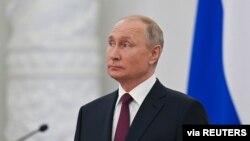 러시아 모스크바에서 열린 노동영웅 훈장 수여식에 참석한 블라디미르 푸틴 러시아 대통령. (자료사진)