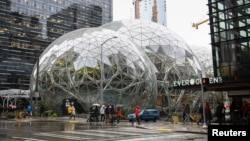 Kantor pusat Amazon di Seattle, Washington (foto: ilustrasi).