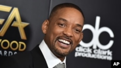 Will Smith arrives at the Hollywood Film Awards at the Beverly Hilton Hotel on Nov. 1, 2015, in Beverly Hills, Calif.