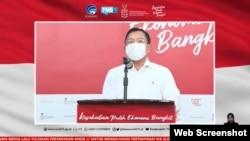 Dalam telekonferensi pers Senin (7/12) di Jakarta, Menkes Terawan Agus Putranto memastikan vaksin Sinovac dalam keadaan baik dan tidak rusak (Foto:VOA)