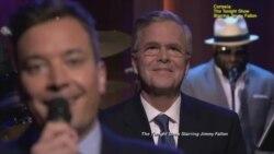 """Jeb Bush """"rapea"""" junto a Jimmy Fallon"""
