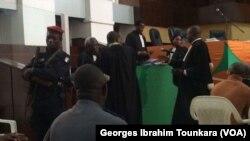 Au Palais de justice d'Abidjan, le 11 janvier 2018. (VOA/Georges Ibrahim Tounkara)